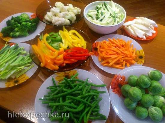 Овощи по-китайски в воке