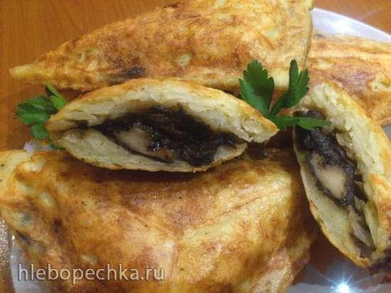 Картофельные зразы с грибами, с салом и с сыром в сэндвичнице Steba SG40