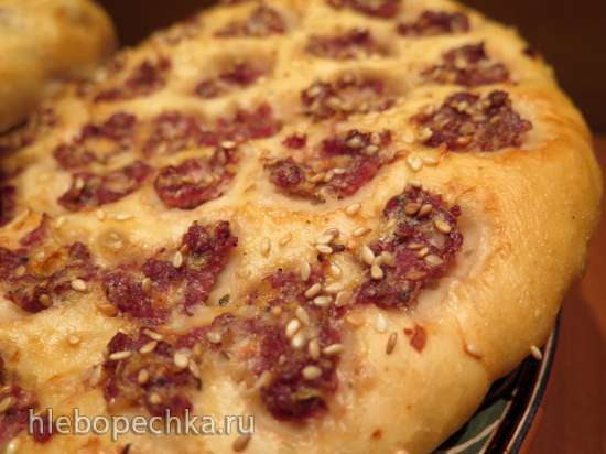 Гуштли нон (лепёшки с мясом) в пиццепечке Princess