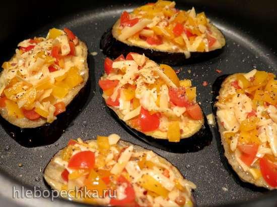 Запечёные баклажаны с сыром, перцем и помидорами (Multicuisine DeLonghi )