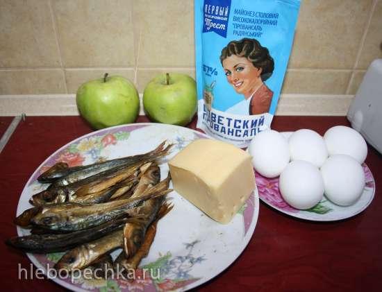 Салат «Рыбка» или «Вареная яичница»