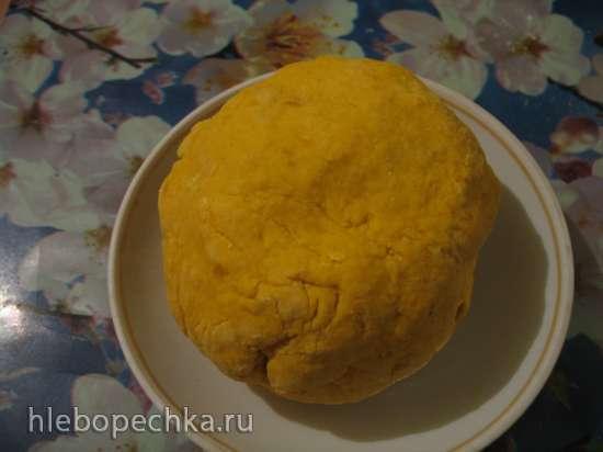 Тыквенный хлеб с черникой и орехами