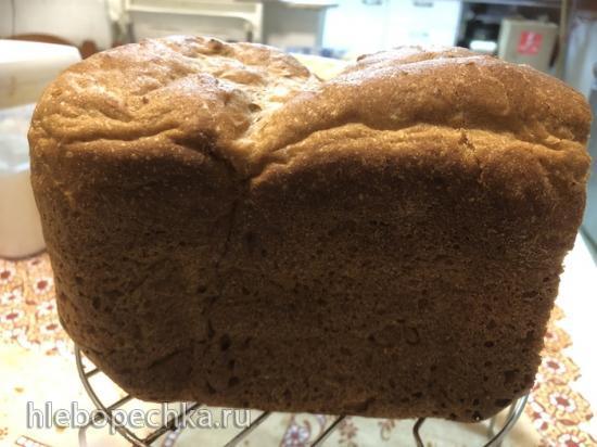 Хлеб из цельнозерновой муки с картошкой