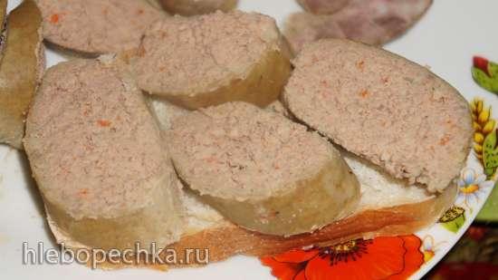 Копченая печеночная колбаса в мультиварке-коптильне Unit-1210s