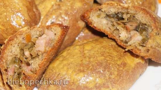 Пирожки ржаные дрожжевые (ржаники)