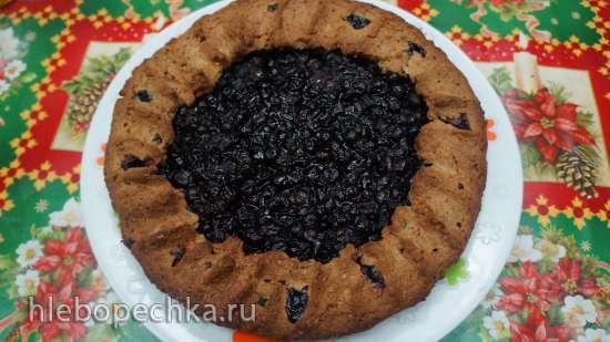 Преснуха ржаная с киселем из черной смородины