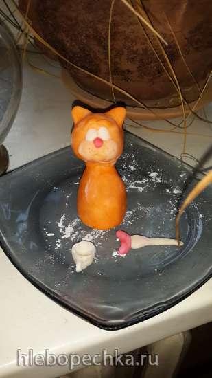 Торт Кот в кресле 3Д (мастер-класс)