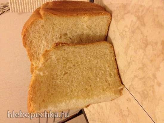 Белый хлеб на йогурте (хлебопечка)