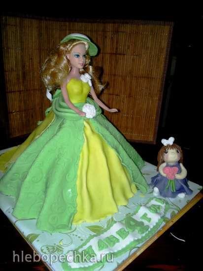 Торты, украшенные мастикой и марципаном (9)