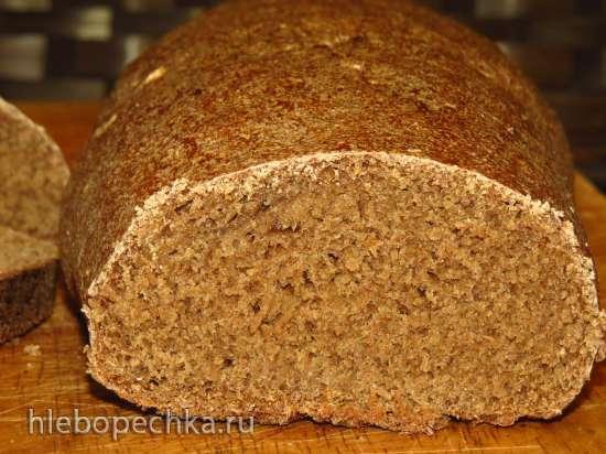 Заварной ржаной хлеб на жидких дрожжах