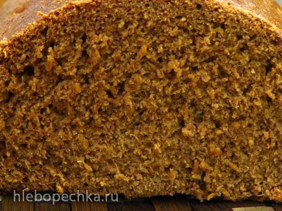 Заварной ржано-пшеничный хлеб на фруктовых жидких дрожжах