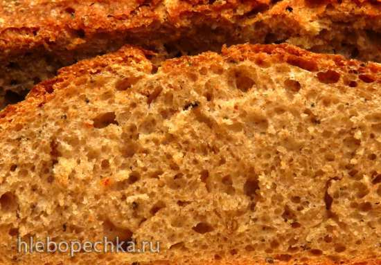 Почти Тосканский хлеб на жидких дрожжах