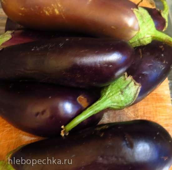 Баклажаны квашеные с овощами