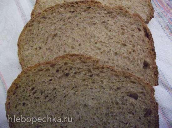 Очень простой ржано-пшеничный на закваске в хлебопечке