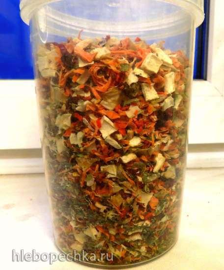 Заготовки суповой зелени (смесь сушеных овощей, трав)