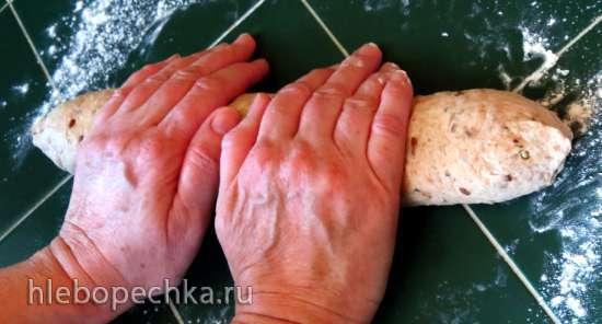 Багеты пшенично-ржаные на закваске