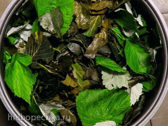 Томленый ольхово-малиновый чай