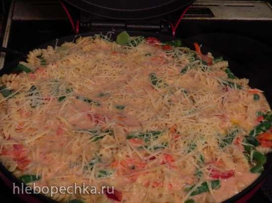 Запеканка из макарон с овощами (пиццамейкер Принцесс)