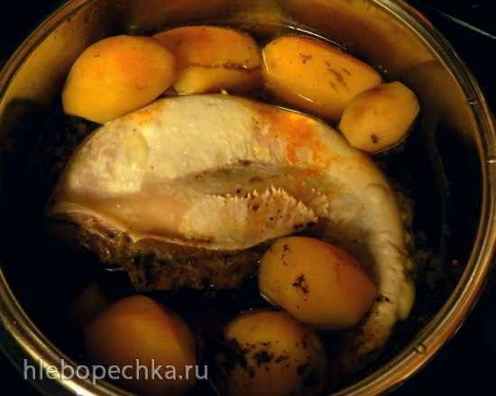 Язык с картофелем под брусничным соусом (Steba DD1 и DD2)