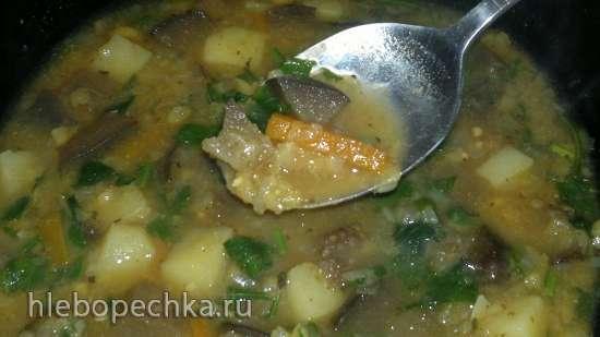 Гороховый суп с баклажанами постный (Steba DD1)