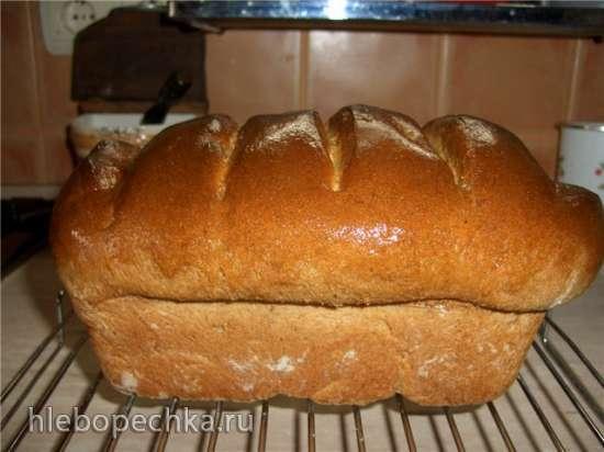 Хлеб из цельной муки  с творогом и сметаной