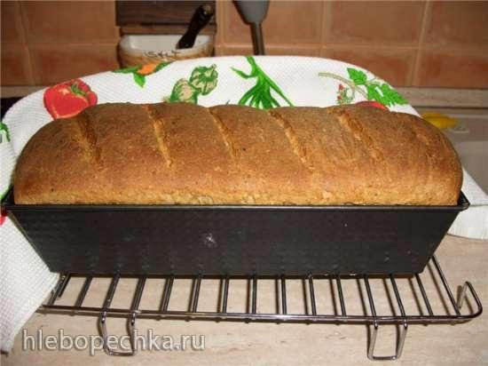 Хлеб пшенично-ржаной из диспергированного зерна и крупы
