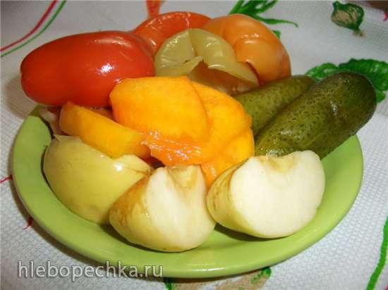 Голубцы с овощами заквашенные