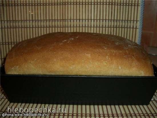 Хлеб пшеничный простой на кефире (духовка)