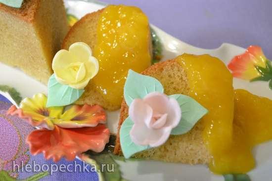 Бисквит «Виктория» под манговым соусом в мультиварке Redmond RMC-01
