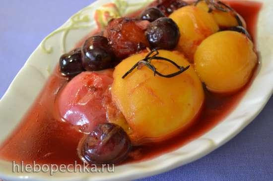 Компот из свежих фруктов в пароварке