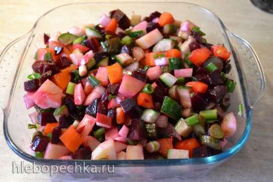 Овощной салат в пароварке