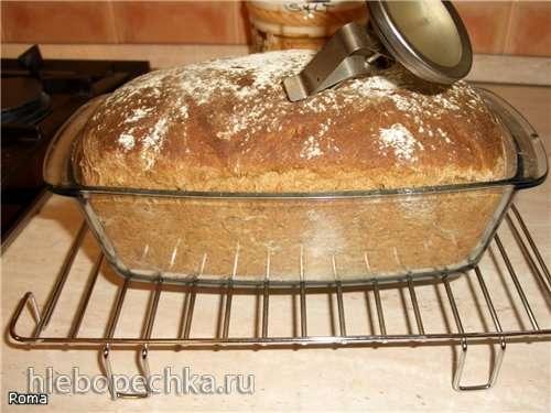Хлеб пшенично-ржаной формовой  на кефирной закваске от Ромы. ( в духовке)