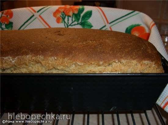 Хлеб пшеничный с добавлением многозерновых хлопьев и крупок с творогом