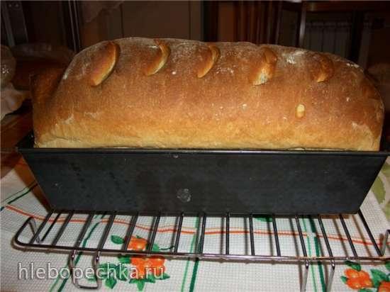 Хлеб пшеничный на манной крупе в духовке