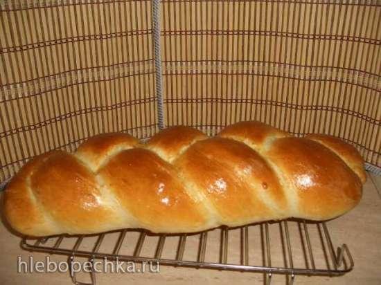 Хала пшеничная на яичных белках и глюкозе в духовке