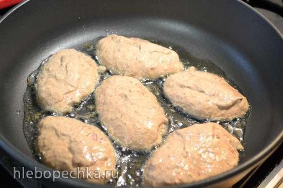 Безглютеновые оладьи из говяжьей печени с льняным загустителем (без яиц, хлеба и муки)