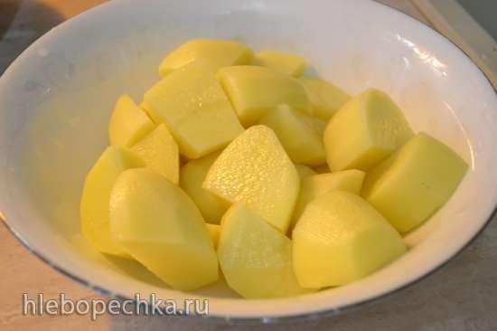 Картофельное пюре с кедровыми сливками и горчичным маслом