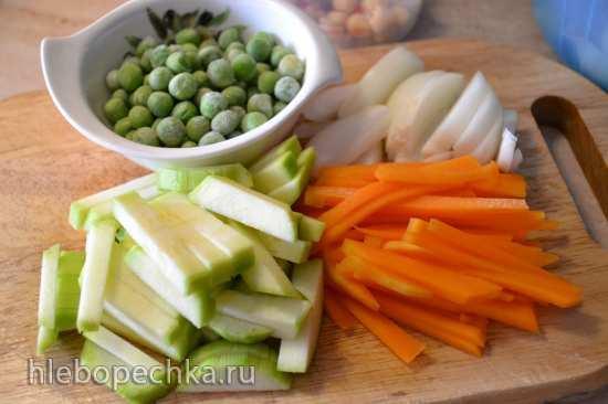 Ракушки с овощами