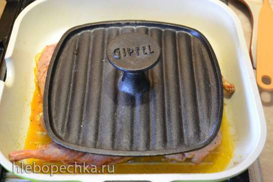 Цыпочки-табака на сковороде-гриль