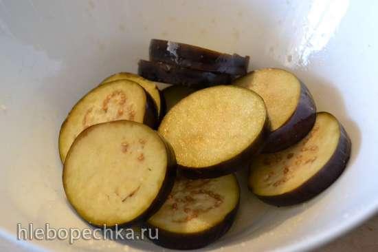 Кляр на кефире для овощей (баклажаны, помидоры) и фруктов (яблоки, персик)