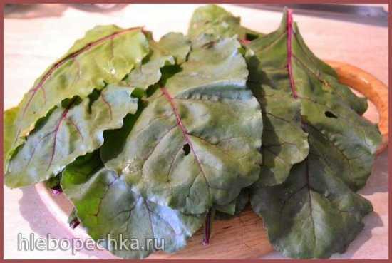 Голубцы из листьев свекольной ботвы