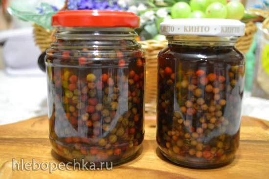 Перец горошек разноцветный консервированный