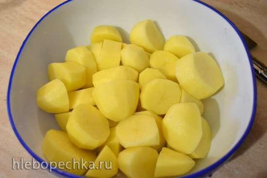 Картофельное пюре с использованием толкушки для картофеля