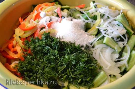 Огуречный салат, консервированный