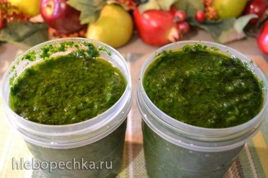 Черемша натуральная, в оливковом масле (для хранения в морозилке)