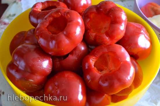 Перец сладкий гогошары (ратунда), острый чили, заготовка для фаршировки сыром фета, брынзой