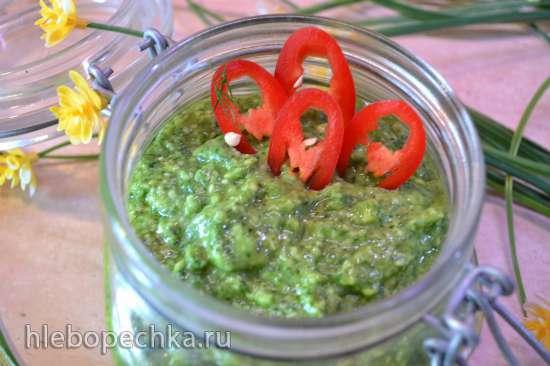 Паста закусочная из черемши с авокадо (варианты с творогом и сметаной)