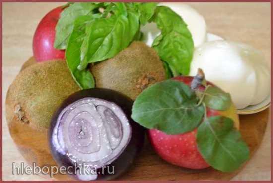 Карпаччо из фруктов с сыром моцарелла