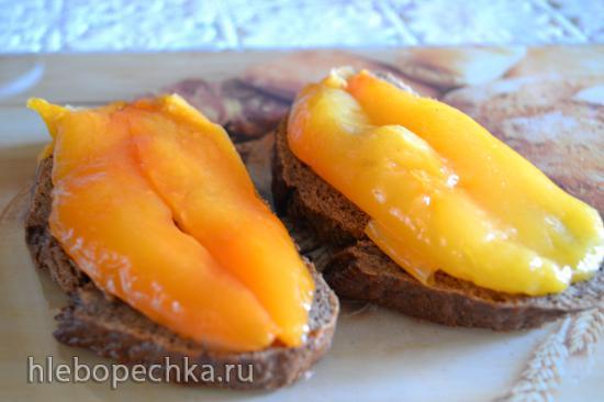 Перец сладкий закусочный, запеченный в духовке, консервированный (без стерилизации)
