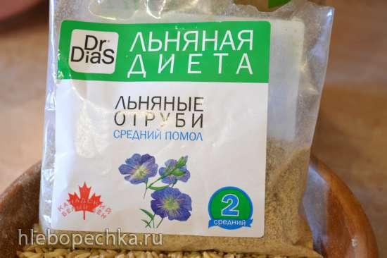 Каша из плющеного овсяного зерна, с льняными отрубями (в мультиварке Redmond RMC-01)